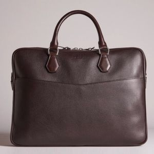 NEW DUNHILL Boston Full-Grain Leather Briefcase